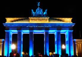 2011: Unsere Techniker beleuchten das Brandenburger Tor