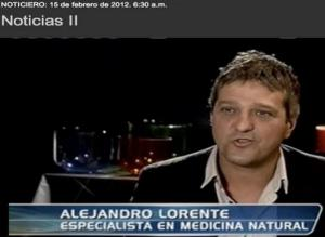 TV-Interview mit A. Lorente -